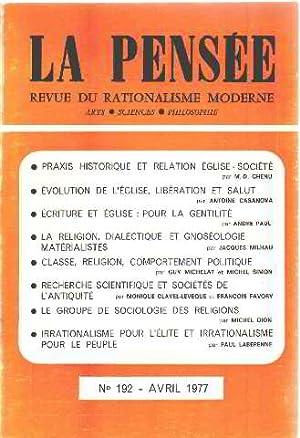 La pensée/ revue du rationalisme moderne n°192: Collectif