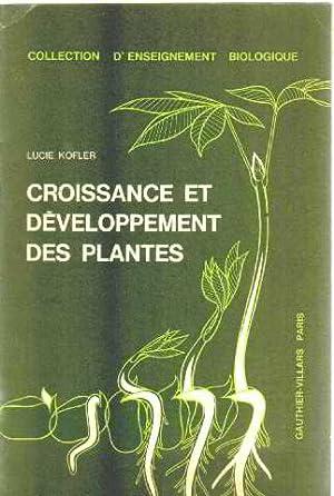 Croissance et developpement des plantes: Kofler Lucie