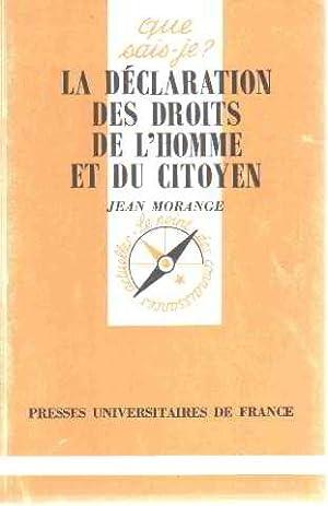 La Déclaration des droits de l'homme et: Morange, Jean
