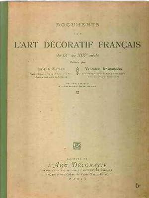 Documents sur l'art decoratif francais du XI°: Lumet Louis/ Rambosson