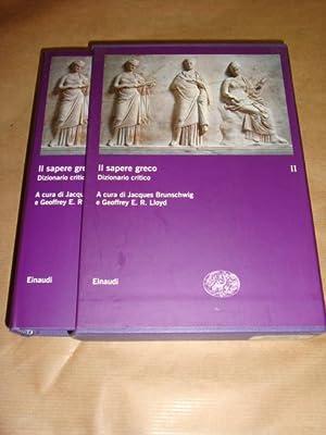 Il sapere greco. Dizzionario critico (volume II): A cura di