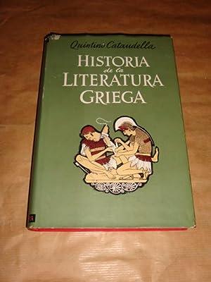 Historia de la literatura griega: Quintino Cataudella