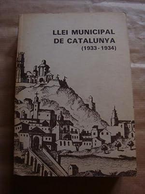 Llei municipal de Catalunya (1933-1934): Lluís Marquès i