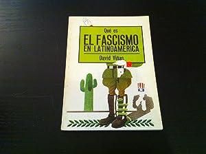 Qué es el fascismo en Latinoamérica: David Viñas