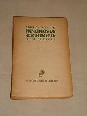 Abreviatura de principios de sociología de H.: Fernando Vela