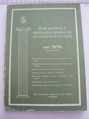 Plan Nacional y Ordenanza General de Seguridad