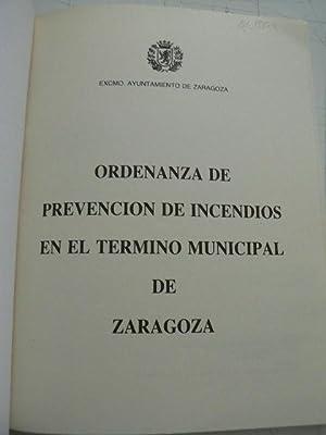 Ordenanza de prevención de incendios en el término municipal de Zaragoza