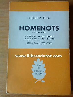 Homenots (novena sèrie). Obres completes - XXIX: Josep Pla