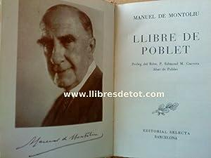 Llibre de Poblet: Manuel de Montoliu