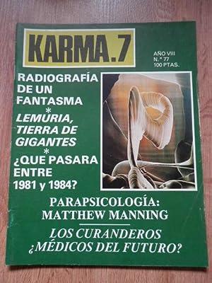 Karma.7. Año VIII. Nº 77. Radiografía de un fantasma: Diversos autores