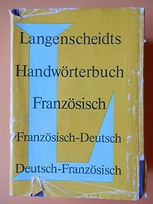 Langenscheidts Handwörterbuch Französisch. Französisch-Deutsch (Teil I). Deutsch-Französisch: Dr. Ernst Erwin