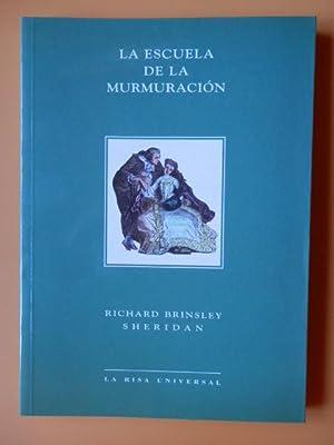 La escuela de la murmuración: Richard Brinsley Sheridan