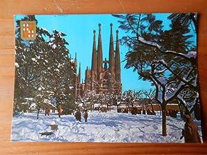 Barcelona nevada.Temple de la Sagrada Família. Nº: Diversos autors