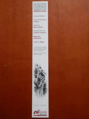 Marcapáginas Escuela Canaria de Creación Literaria. Cursos: Diversos autores