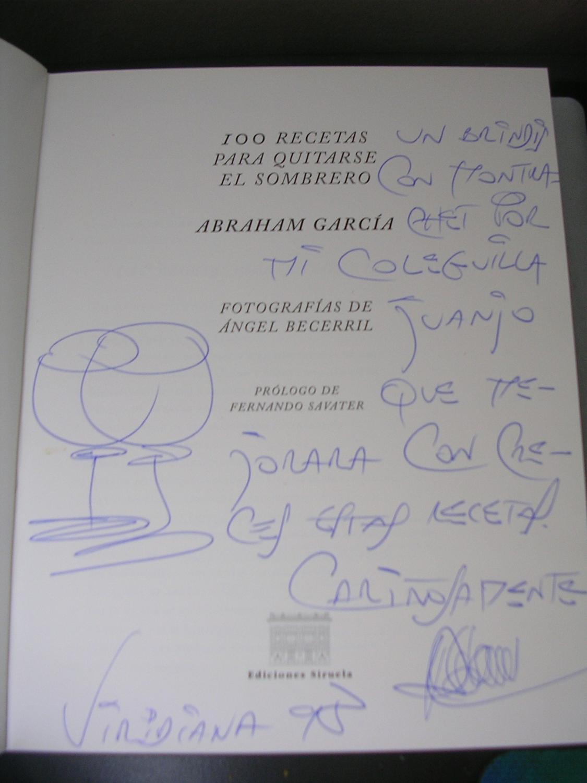 Prólogo Fernando Savater  GARCIA 100 RECETAS PARA QUITARSE EL SOMBRERO.  Fotografías Angel Becerril. Prólogo Fernando Savater  GARCIA ... 0cca4186f75