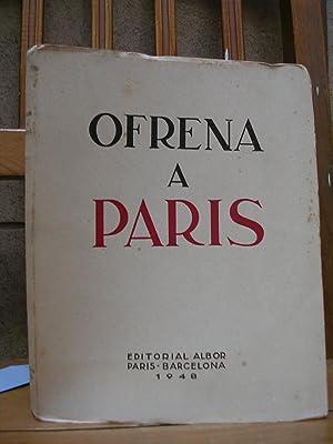 OFRENA A PARIS dels intel.lectual catalans a l'exili. Frontispici de Pau Picasso i 35 dibuixos...