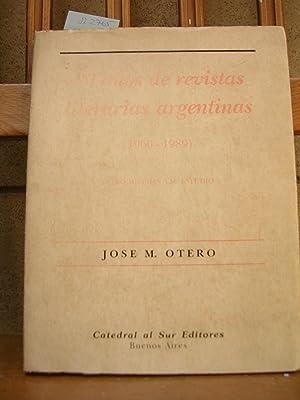 30 AÑOS DE REVISTAS LITERARIAS ARGENTINAS (1960-1989).: OTERO, José M.