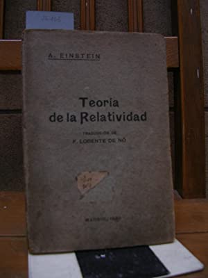 LA TEORIA DE LA RELATIVIDAD especial y: EINSTEIN, A. (Albert)