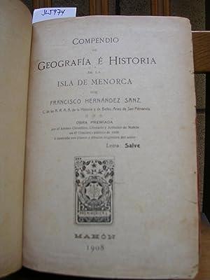 COMPENDIO DE GEOGRAFIA E HISTORIA DE LA: HERNANDEZ SANZ, Francisco