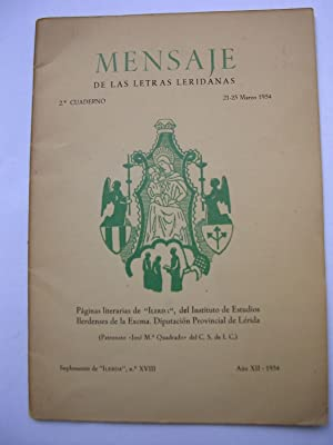 MENSAJE DE LAS LETRAS LERIDANAS. 2º Cuaderno