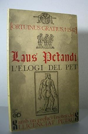 LAUS PETANDI. L'elogi del pet: ORTUINUS GRATIUS