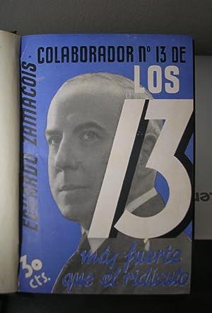 LOS 13. Publicación semanal literaria. Nºs 1: Antonio de Hoyos