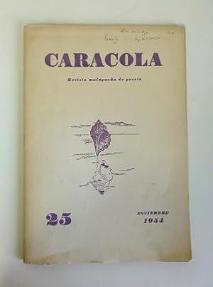 CARACOLA REVISTA MALAGUEÑA DE CULTURA. NOVIEMBRE. Nº: Estrada Segalerva, José
