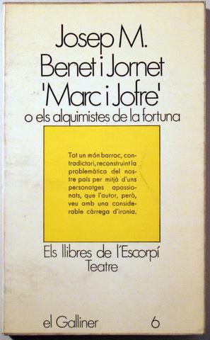 MARC I JOFRE - Edicions 62 1970: BENET I JORNET,