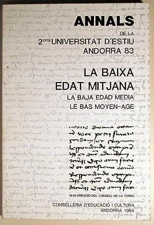 ANNALS DE LA 2º UNIVERSITAT D'ESTIU ANDORRA