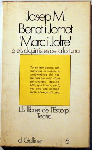 """MARC I JOFRE"""" - Barcelona 1970: BENET I JORNET,"""