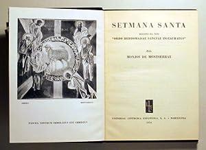 SETMANA SANTA - Barcelona 1956: MONJOS DE MONTSERRAT