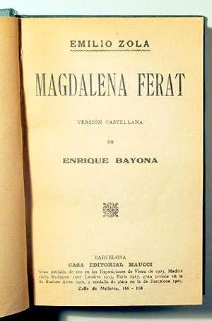 MAGDALENA FERAT - Barcelona 1929: ZOLA, Emilio