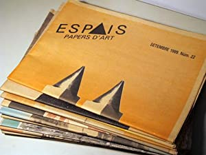 ESPAIS. PAPERS D'ART [ 48 números ] - 1987-1997: Revista d'art contemporani)