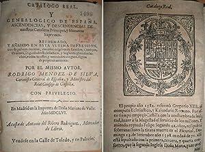 Catálogo Real, y Genealógico de España, ascendencias, y descendencias de nuestros Católicos ...