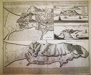 Neuester und exacter Plan und Prospect von der Stadt, Vestung, Bay und Fortification von Gibraltar…...