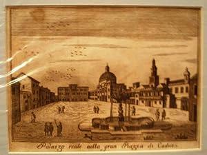 Palazzo Realle nella gran Piazza di Cadice.: SALMON, Thomas.