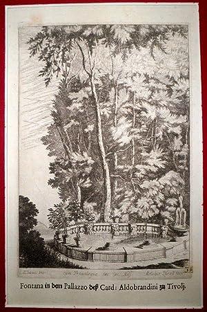 Fontana in dem pallazzo der Card: Aldobrandini zu Tivoli.: BAUER, J. W. & KÜSEL, Melchior.