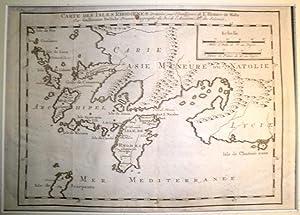 Carte des Isles Rhodiennes. Dressées pour l'Intelligence de l'Histoire de Malte.: DELISLE, ...