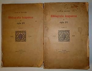 Bibliografía Aragonesa del Siglo XVI. 1501-1600.: SÁNCHEZ, Juan M.