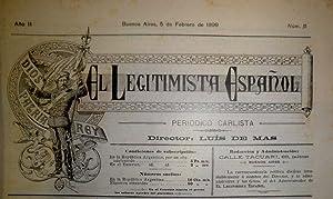 EL LEGITIMISTA Español. Periódico Carlista. Director Luis de Mas (a partir del número 137 Director ...