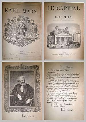 Le Capital. Traduction de M. J. Roy,: MARX, Karl.