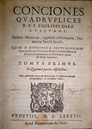 Conciones quadruplices. Quae a Dominica septuagesimae usque ad sacrum Dominicae Resurrectionis ...