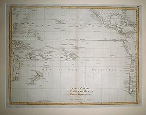 Carte reduitte du Grand Océan. Partie Meridionale.: POIRSON, Jean-Baptiste.