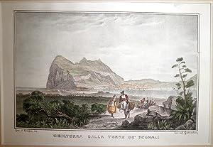 Gibilterra dalla torre de' segnaili.: ONOFRIO, Gius. d'.