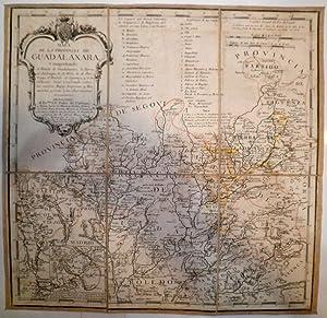 Mapa de la Provincia de Guadalaxara, comprehende el Partido de Guadalaxara, la Tierra de Jadraque, ...