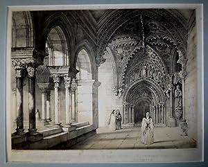 Entrada del Coro en la clausura del Monasterio de las Huelgas de Burgos.: PÉREZ DE VILLAMIL, Jenaro.