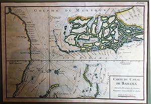 Carte du canal de Bahama suivant les: BELLIN, Jaques-Nicolas.