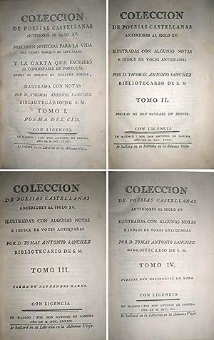 Colección de poesías castellanas anteriores al siglo XV. Preceden noticias para la vida del primer ...