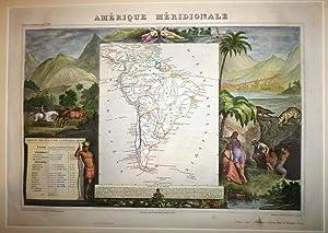 Amérique Méridionale.: LEVASSEUR, V.