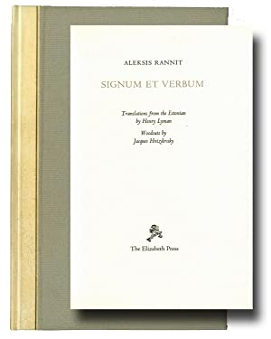 Signum et verbum. Translations from the Estonian by Henry Lyman. Woodcuts by Jacques Hnizdovsky. ...